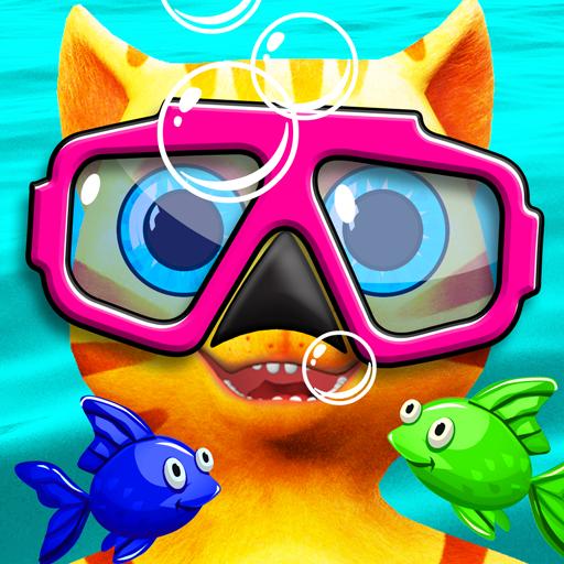 Cat Leo's Fish Hunt Water Race - Swim Shop And Run