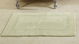 """Better Trends Lux Collection is Ultra Soft Plush and Absorbent Tufted Bath Mat Rug 100 Percent Cotton in Vibrant Colors, 24"""" x 40"""" Rectangle, Sage"""