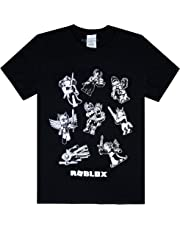 Roblox Characters in Space Kid's Black T-Shirt Short Sleeve Gamer's Tee…