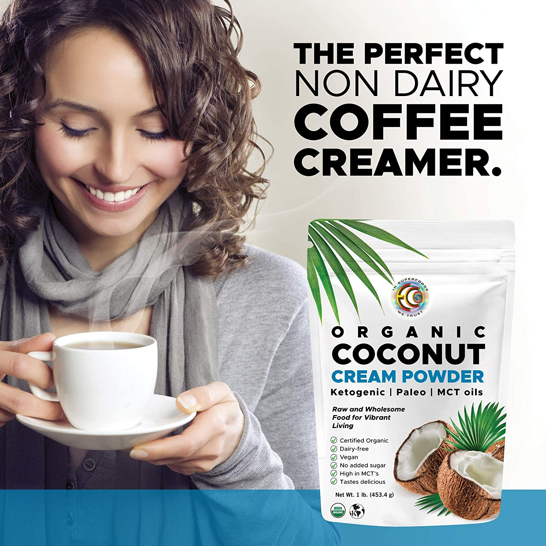 Coconut Cream | Milk Powder, Perfect Keto Coffee Creamer - High in MCT Oil, Vegan, No Added Sugar, Gluten and Dairy Free