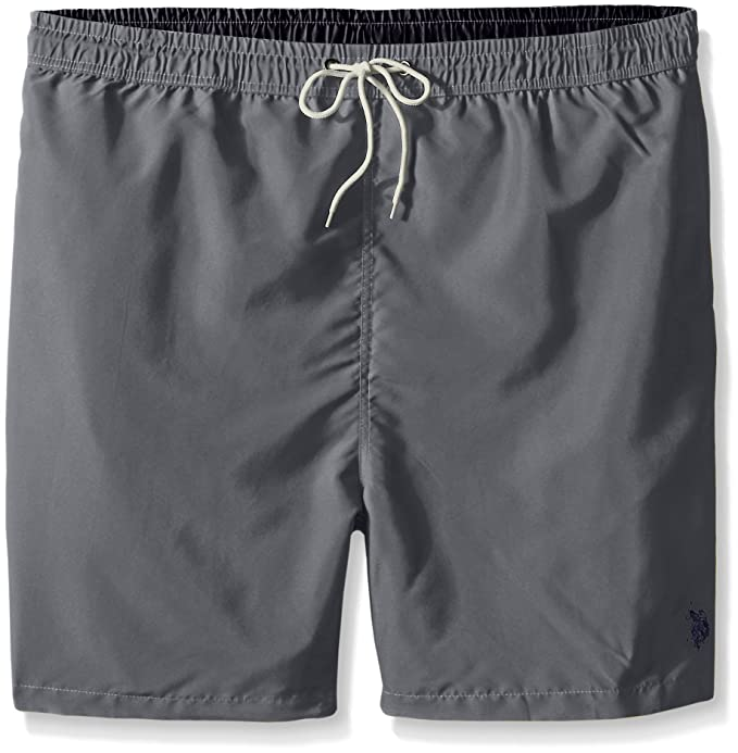 U.S. Polo Assn.. Men s Big-Tall Solid Peached Microfiber Swim Shorts ... c9593a9ee