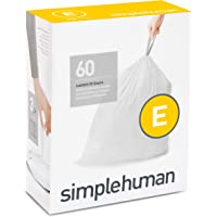 Simplehuman Code E Custom Fit Trash Can Liner 20 Liter / 5.3Gallon, 60 Count