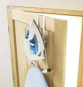 Ironing Board Organiser For Door U2013 Over Door Ironing Caddy Station U2013 Holder  Set U2013 Organiser