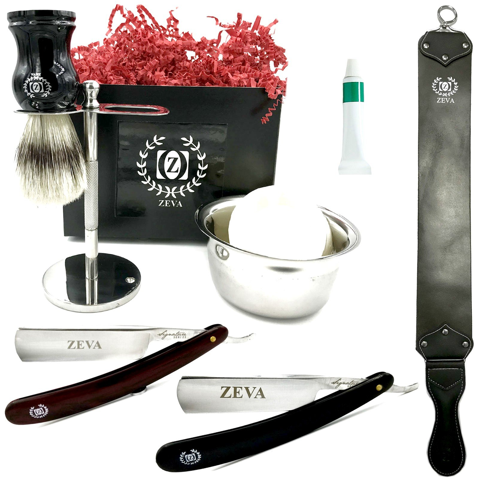Straight Razor Cut Throat Shavette Mens Shaving Classic Shave Straight Razors Dovo Paste Strap Cup Soap Bag Shaving Set in Gift Box for XMAS