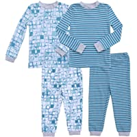 Asher and Olivia Boy's 2-Pack Pajama Set Baby Clothes Pjs Sleepers Footless Sleepwear