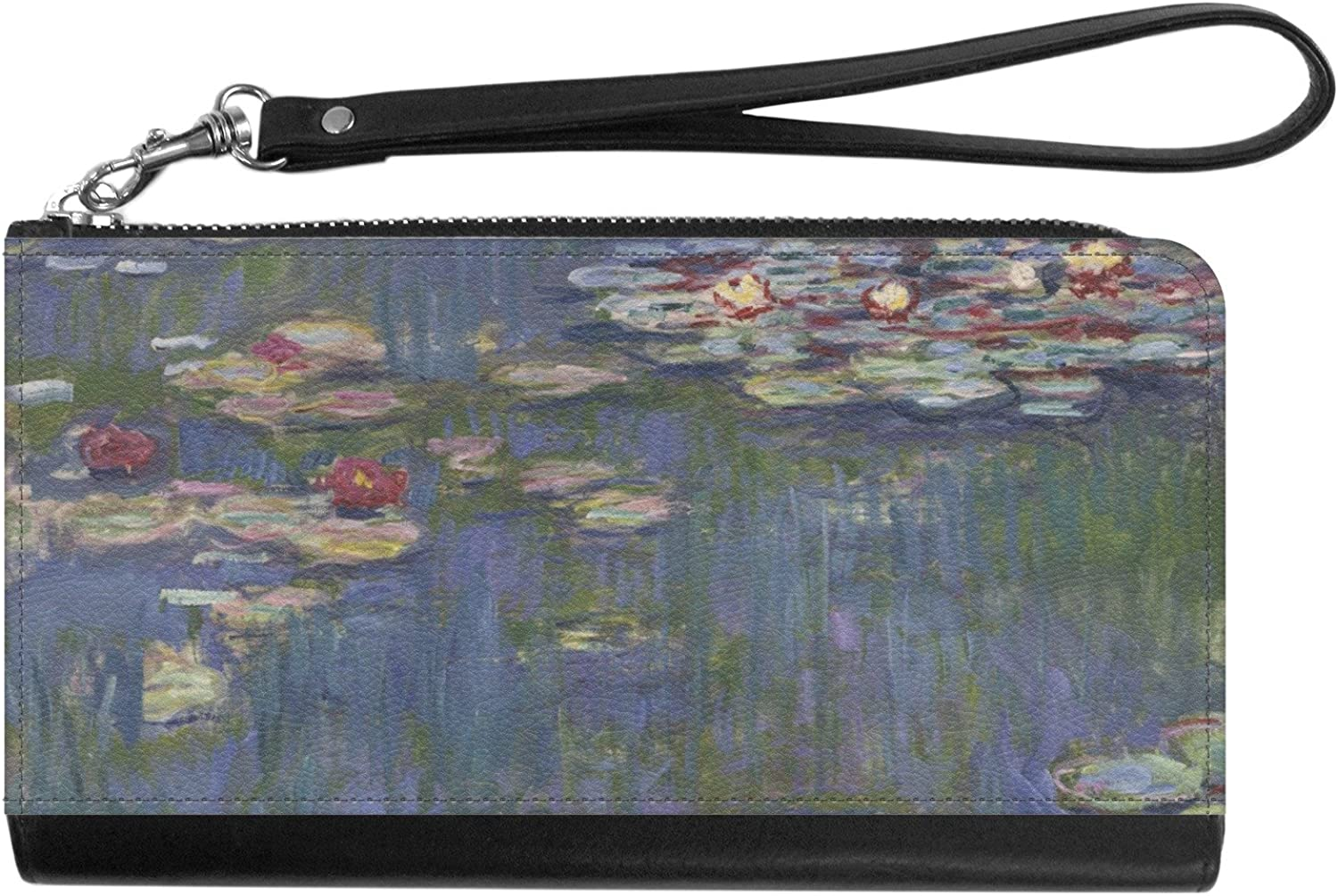 Water Lilies by Claude Monet Genuine Leather Smartphone Wrist Wallet