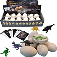 Dinosaur Toys, Dino Egg Dig Kit Kids Gifts - Break Open 12 Unique Dinosaur Eggs and Discover 12 Cute Dinosaurs - Archaeology