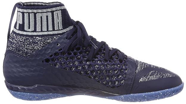 Puma 365 Evoknit Netfit CT, Chaussures de Football Américain Homme, Bleu (Peacoat-Quarry White), 39 EU