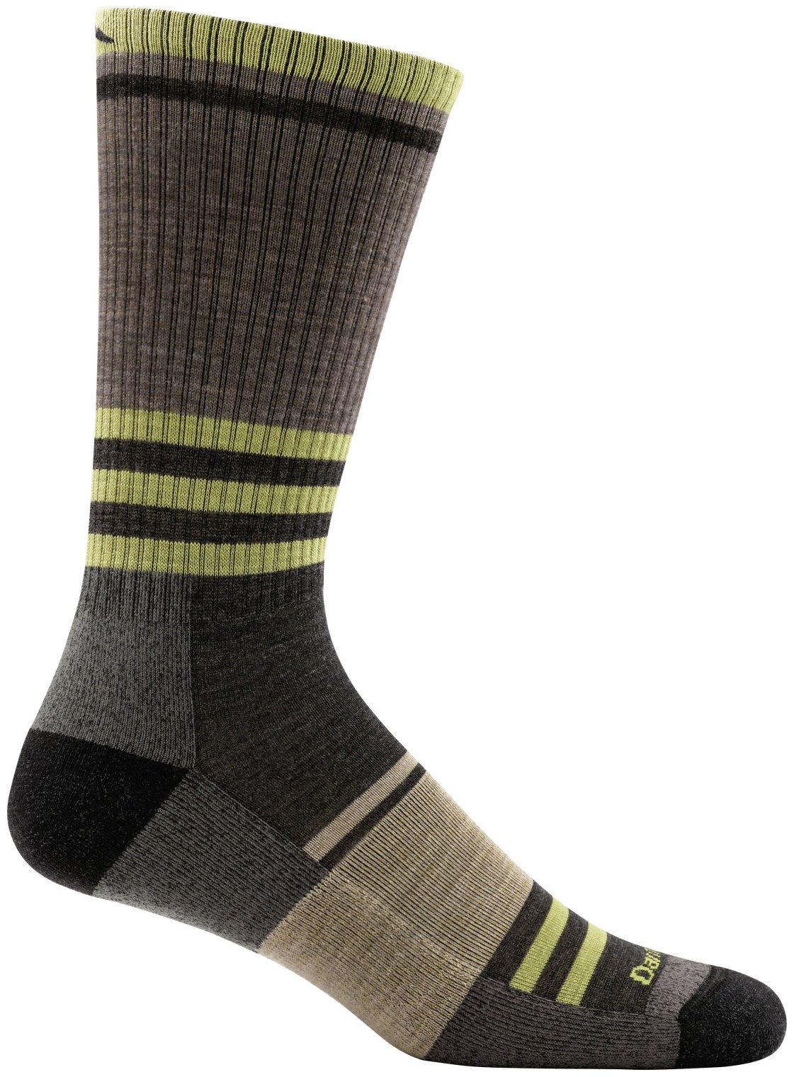 Darn Tough Spur Boot Light Cushion Sock - Men's Brown Small