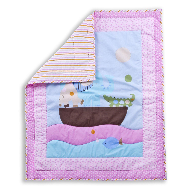 Dream On Me Sea Friends 5 Pieceリバーシブルフルサイズベビーベッド寝具セット   B00PRX8TZS