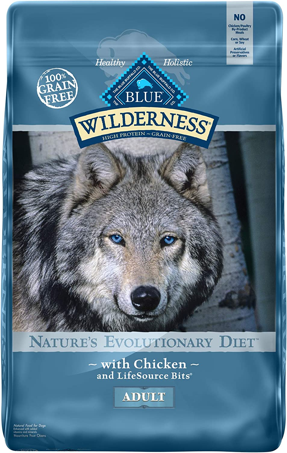 1. Blue Buffalo Wilderness Chicken Recipe Grain-Free Dry Dog Food