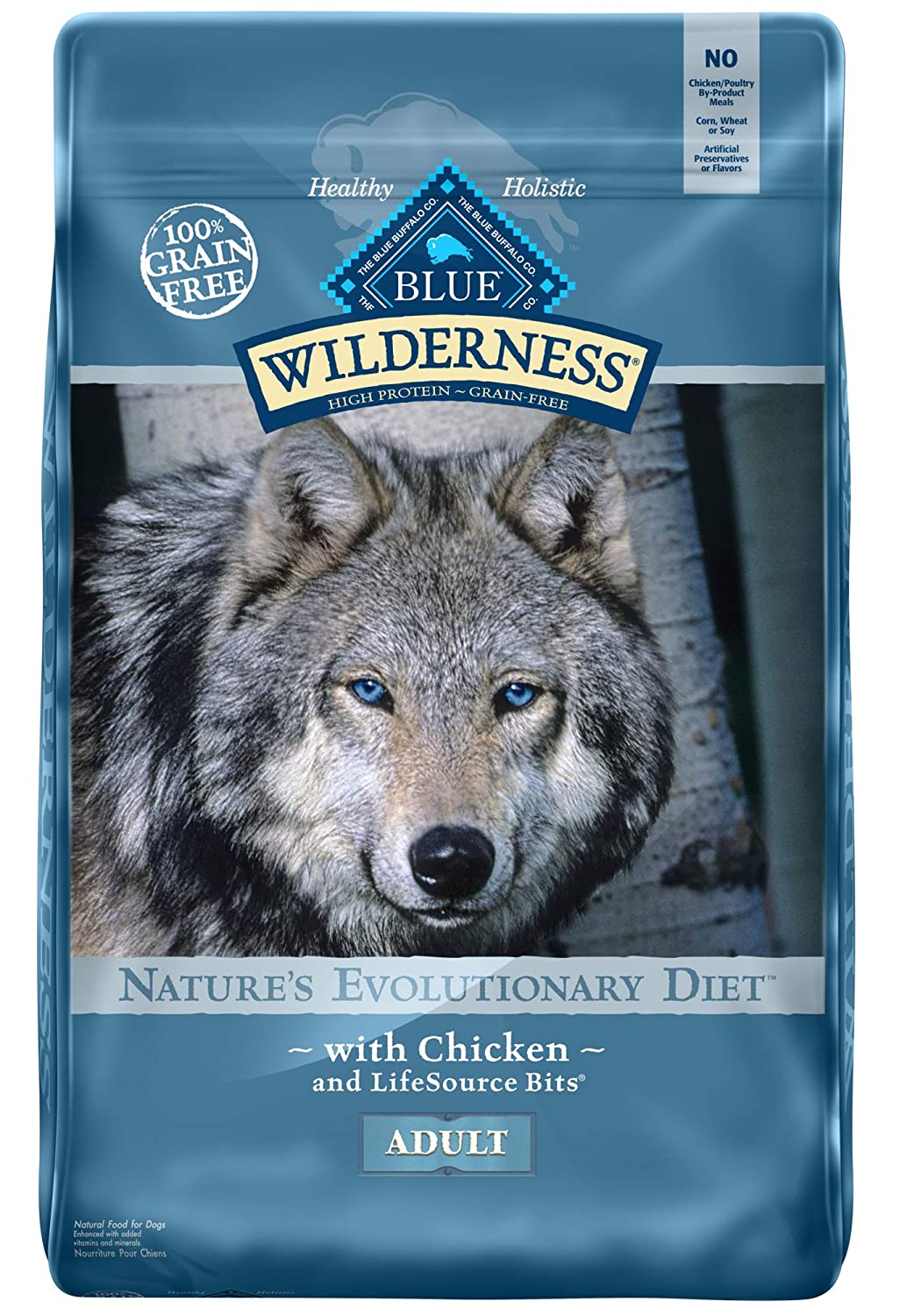 4.Blue Buffalo Wilderness Chicken Recipe Grain-Free Dry Dog Food
