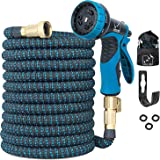 100 Ft Expandable Garden Hose, Extra Strength No-Kink, Lightweight Durable Flexible Expanding Water Hose Pipe, 9 Function Spr