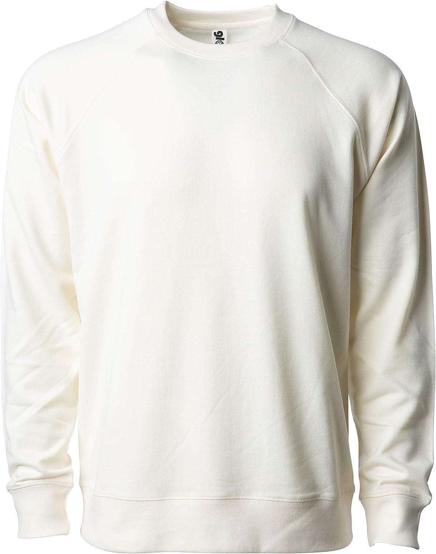 Global Blank Womens French Terry Fleece Lightweight Crewneck Sweatshirt