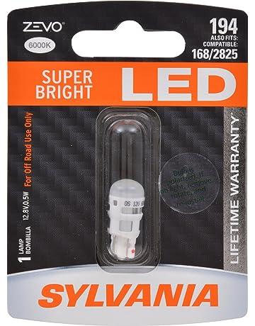 SYLVANIA - 194 T10 W5W ZEVO LED White Bulb - Bright LED Bulb, Ideal fo