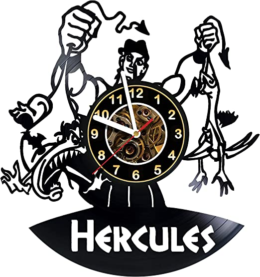 Amazon Com Iskra Shop Hercules Movie Vinyl Wall Clock Get Unique Gifts Presents For Birthday Christmas Ideas For Boys Girls Men Women Adults Him And Her Sport Unique Art