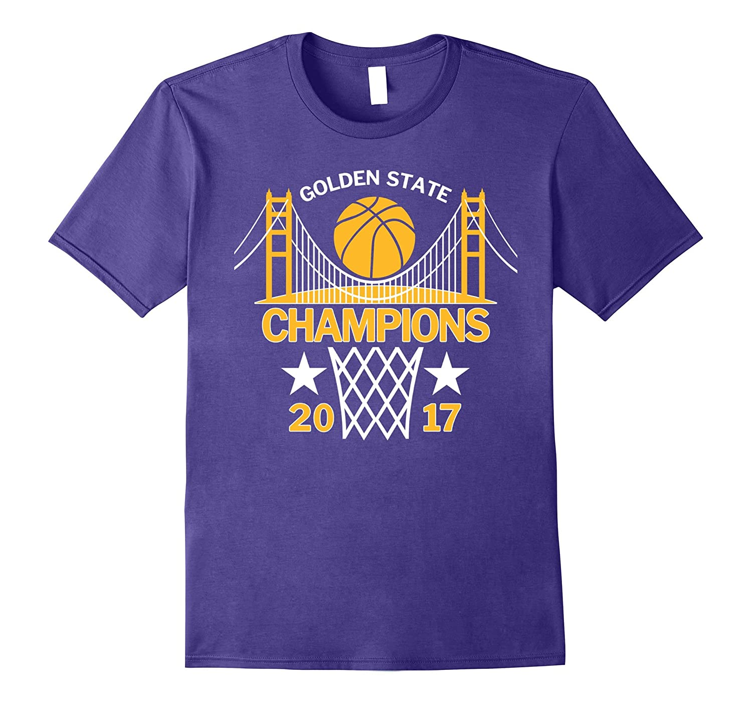 Golden State Champions with Golden Gate Bridge 2017 T-Shirt-BN