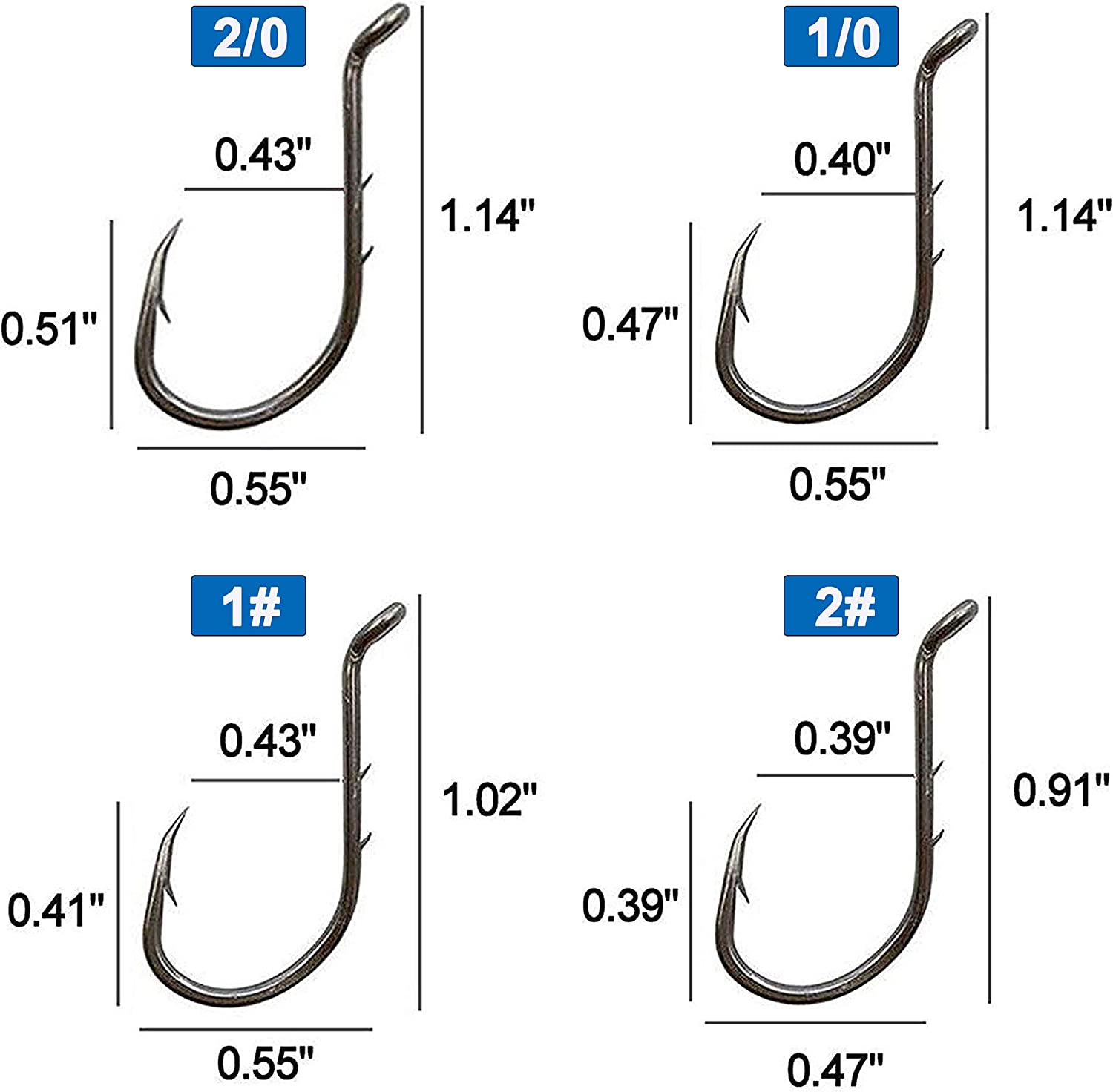 Details about  /200//Box Hi-Carbon Steel Octopus Fishing Hooks Barbed Sharpened Fish Hooks 7Sizes
