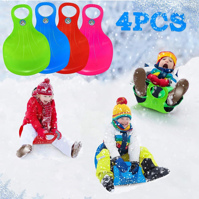 Schneerutscher Kinder Schneeflitzer Schneerutscher Popo-Rutscher Schlitten Schneeflitzer PE Kinderschlitten Schlitten Lenkschlitten Schnee Rutscher Winter Ski Board f/ür Unisex Kinder Wintersport