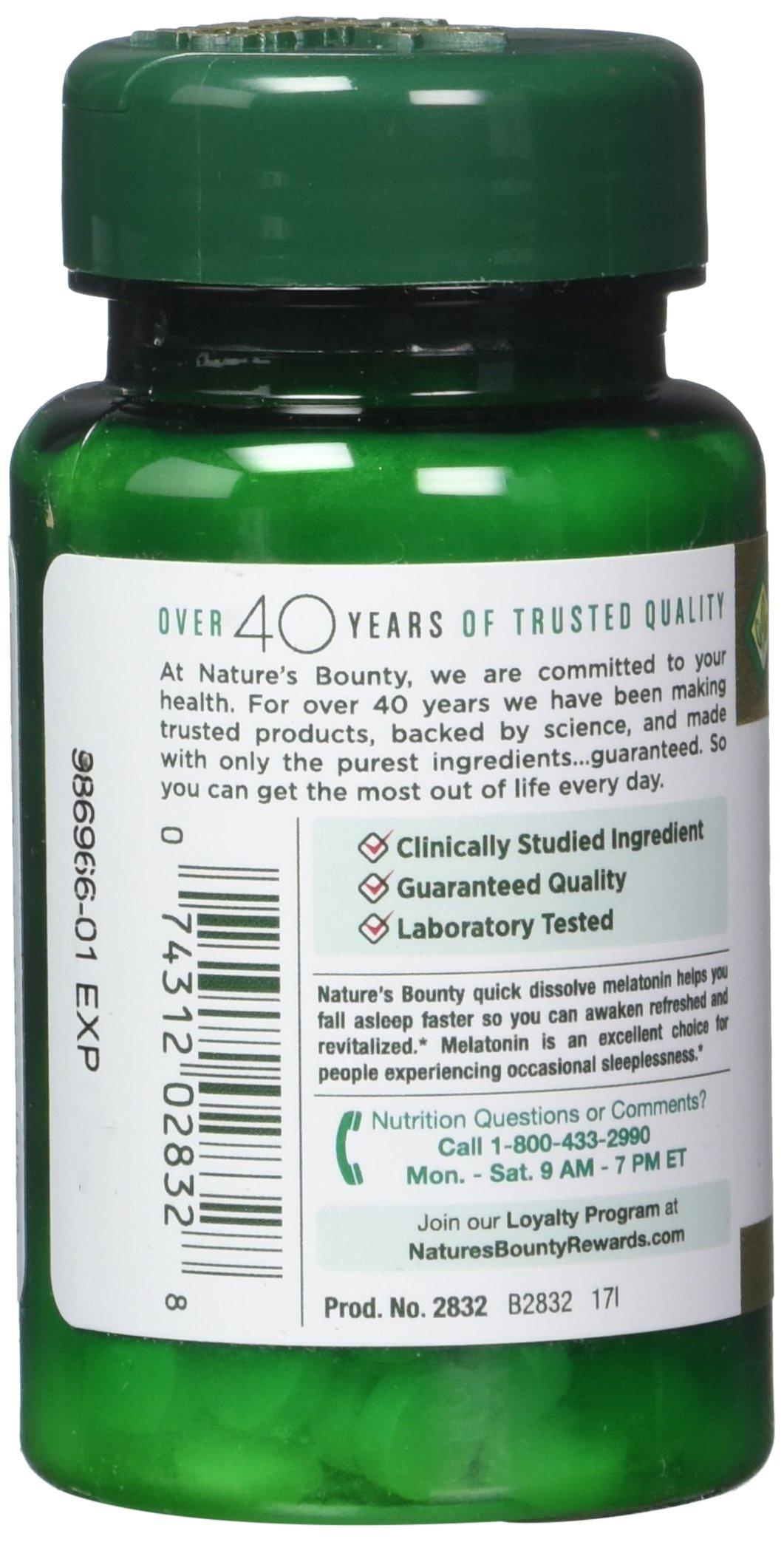 Nature's Bounty Melatonin 1 mg, 180 Tablets by Nature's Bounty (Image #5)