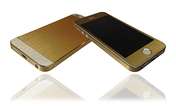 online store 11d85 cd7fe Brushed Gold & Aluminium Skin For iPhone 5s Decal Cover Wrap ...
