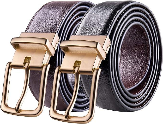 Automatic Buckle Soft Leather Belts for Men Jeans Decorative Waist Bands