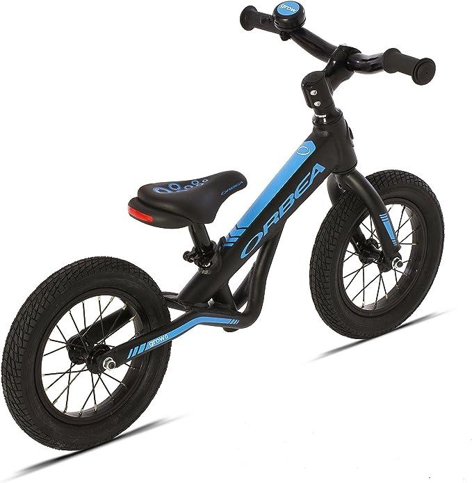 Bicicleta Infantil Orbea Grow 0 Negra-Azul: Amazon.es: Deportes y ...