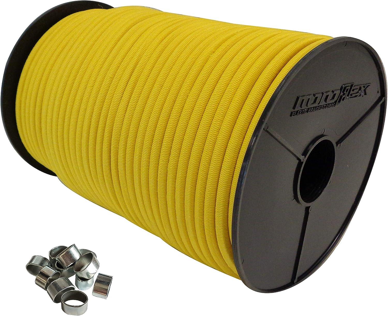 6mm Expanderseil 10 m Gummiseil 10 W/ürgeklemmen Gummileine Planenseil Seil Plane in Gelb