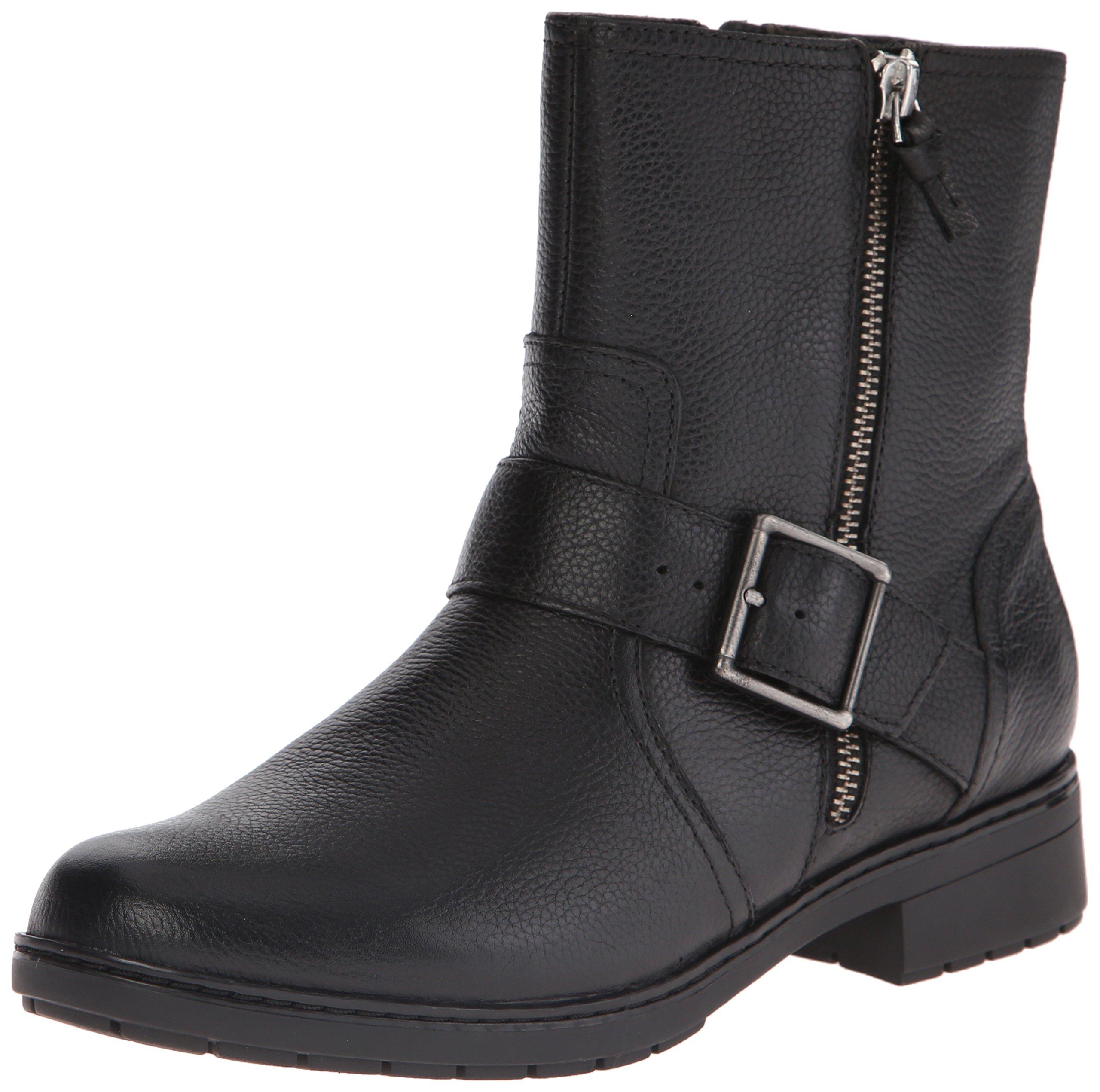 CLARKS Women's Merrian Lynn Boot, Black Leather, 10 M US