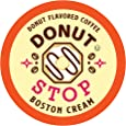 Donut Stop Coffee Flavored Coffee Pods, Compatible with 2.0 K-Cup Brewers, Boston Cream Donut Flavor, 40 Count
