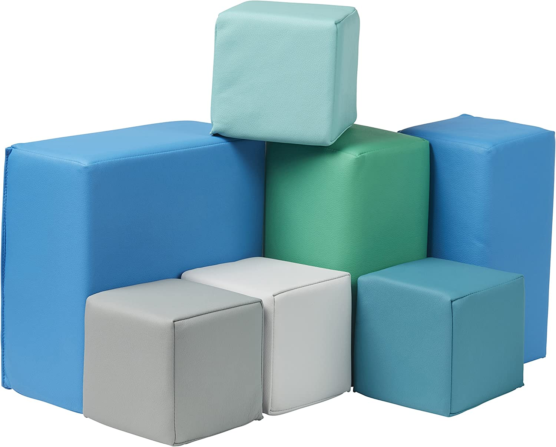 Ecr4Kids Softzone Foam groß Building Blocks, Soft spielen für Kids (7-Piece Set), Toddler Blocks, Contemporary