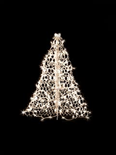 3 white wire crab pot christmas tree with 200 clear incandescent mini lights - Christmas Sphere Lights