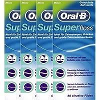 4X Oral-B Superfloss Dental Floss 50 Threads
