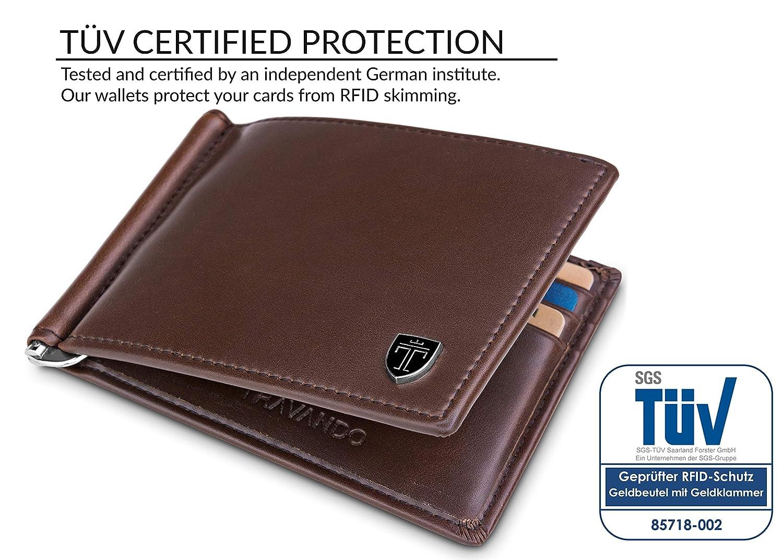 selezione premium f2549 6220c TRAVANDO Slim Wallet with Money Clip LAGOS | RFID Blocking Card Minimalist  Mini Bifold Men with Gift Box Money clip wallet