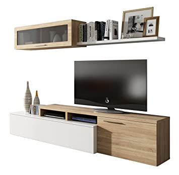 Habitdesign - Mueble de salón comedor moderno, medidas: 200x41 ...
