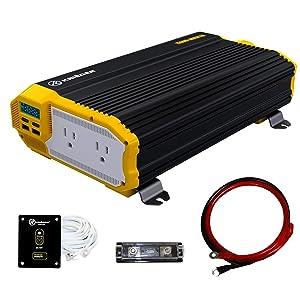 Krieger 1500 Watts Power Inverter 12V to 110V, Modified Sine Wave Car Inverter