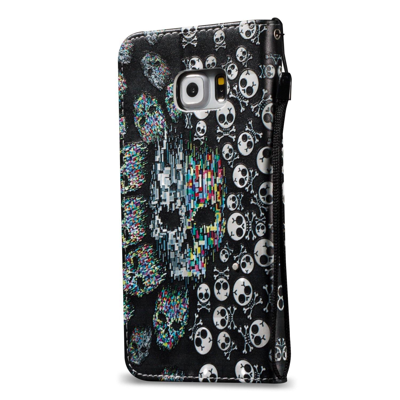 cubierta de piel estampado Case Carcasa Galaxy S6/EDGE PLUS ikasus/® Forte magn/ético carcasa Galaxy S6/EDGE PLUS Bookstyle funda de piel funda en 3d funda funda cuero PU funda Galaxy S6/EDGE PLUS