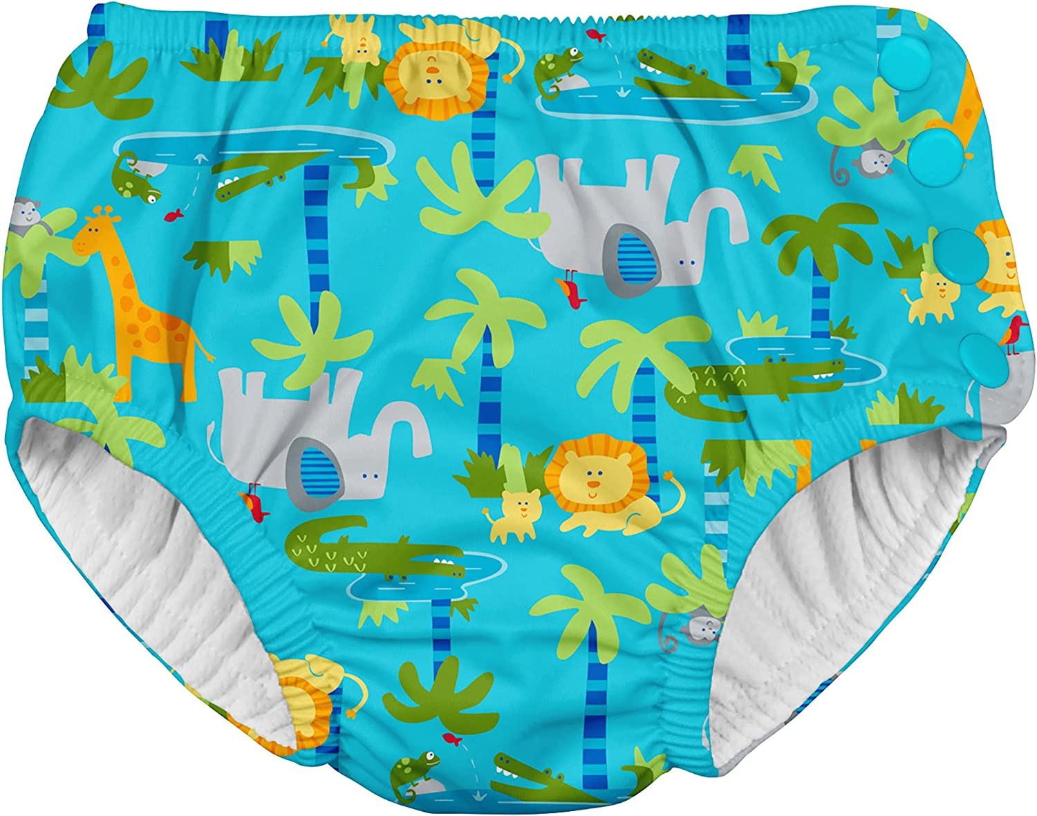 by green sprouts Boys Snap Reusable Swim Diaper i play