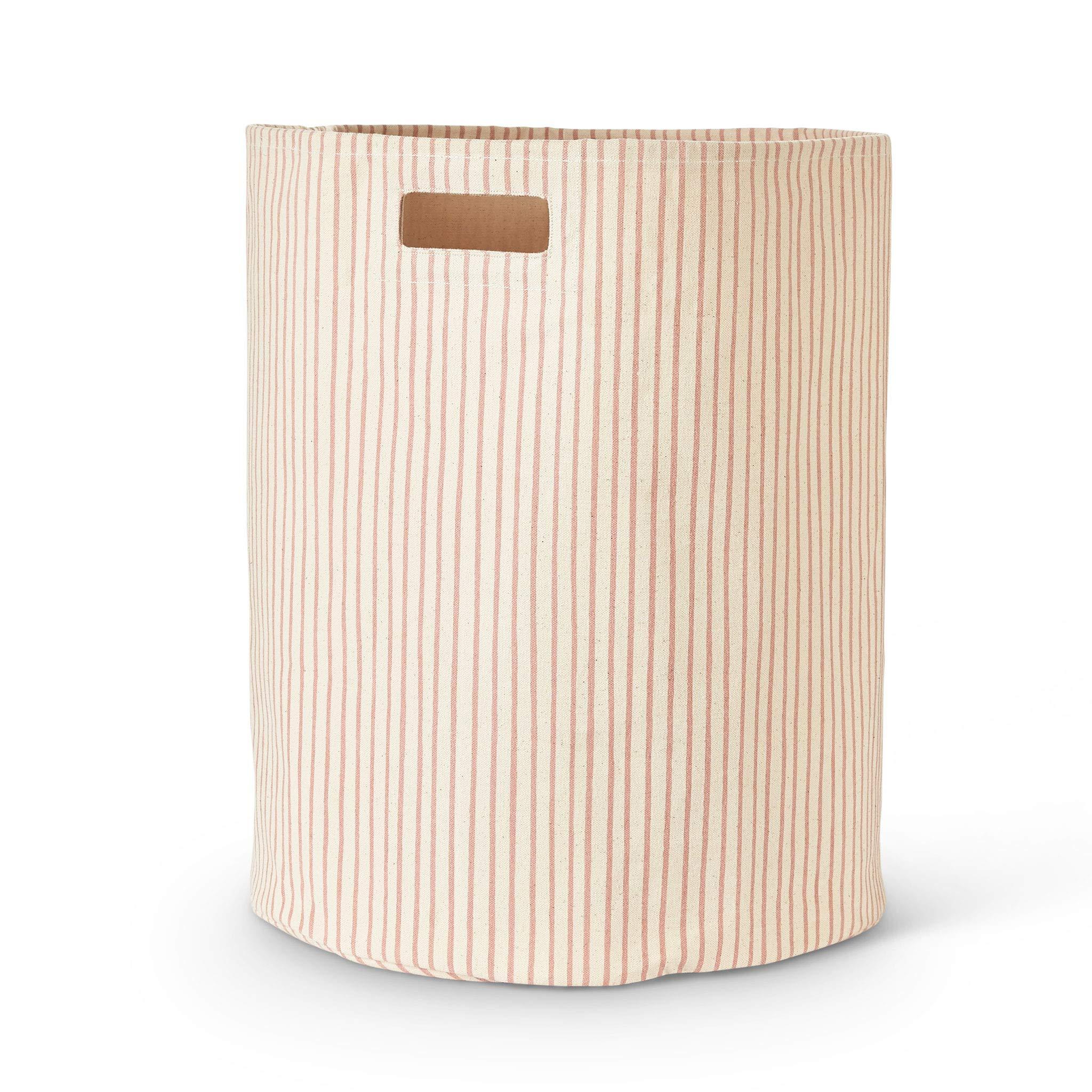 Pehr Stripes Away Hamper - Petal, Multi by PEHR