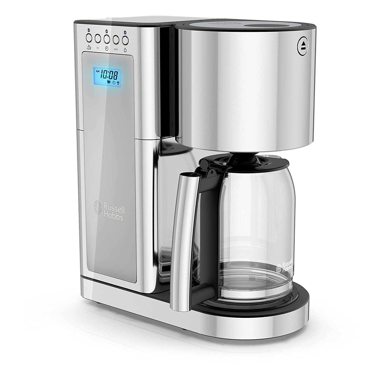 Russell Hobbs Glass Series 8-Cup Coffeemaker, Silver & Stainless Steel