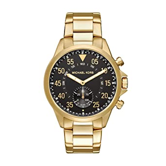 Michael Kors Mens Goldtone Gage Hybrid Watch