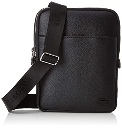 plus de photos 29820 7dcf7 Lacoste homme Nh2839gl Sac porte epaule Noir (Black): Amazon ...