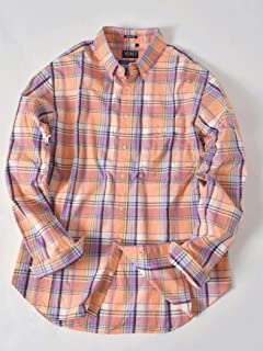 Madras Buttondown Shirt 121-17-0025: Orange