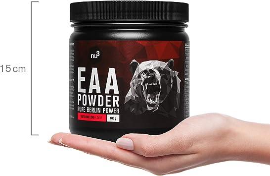 nu3 EAA en polvo – 400g sabor sandía – 8 aminoácidos esenciales – Suplemento deportivo para incrementar fuerza, resistencia y musculación - Contiene ...