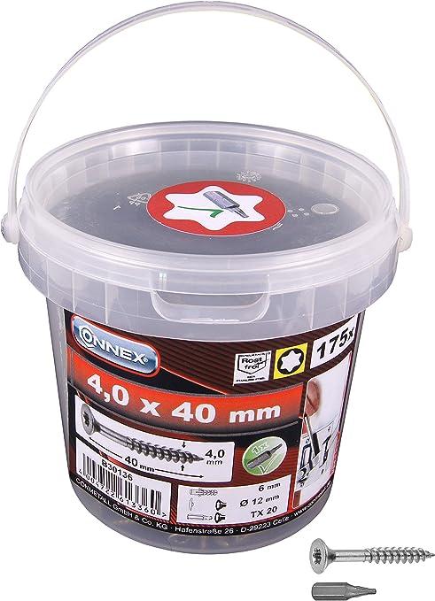 Vis pour agglom/ér/é Reisser VI Port Torx 3,5/x 30/filetage partiel T/ête frais/ée TX 15/Bleu galvanis/é VE//Lot de 1000