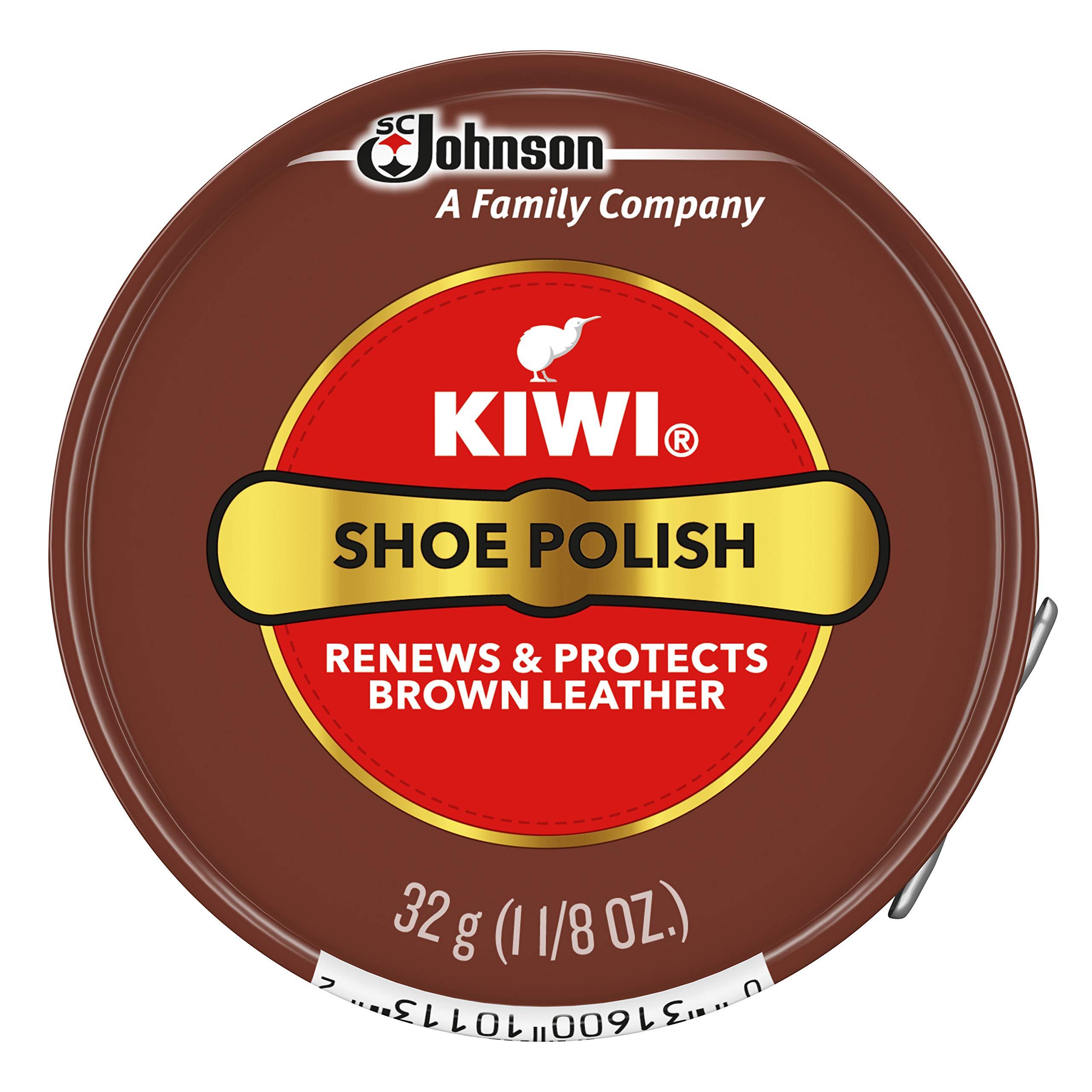 Kiwi Paste Polish, Brown, 1.125 Oz
