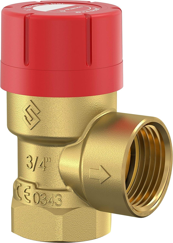 Soupape Flamco Prescor soupape de surpression r/éducteur de pression Rp/¾x Rp/¾ 3.0bar 27025
