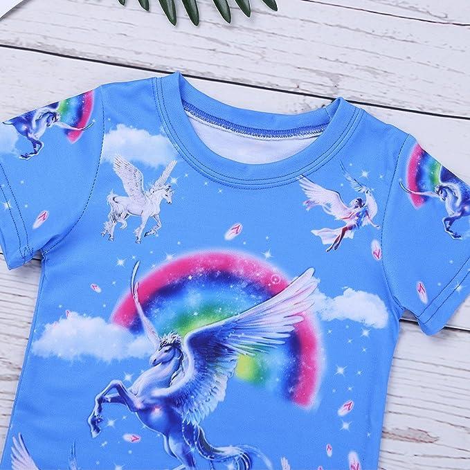 Amazon.com: iEFiEL Little Girls Algodón Pijama Unicorn Pjs ...