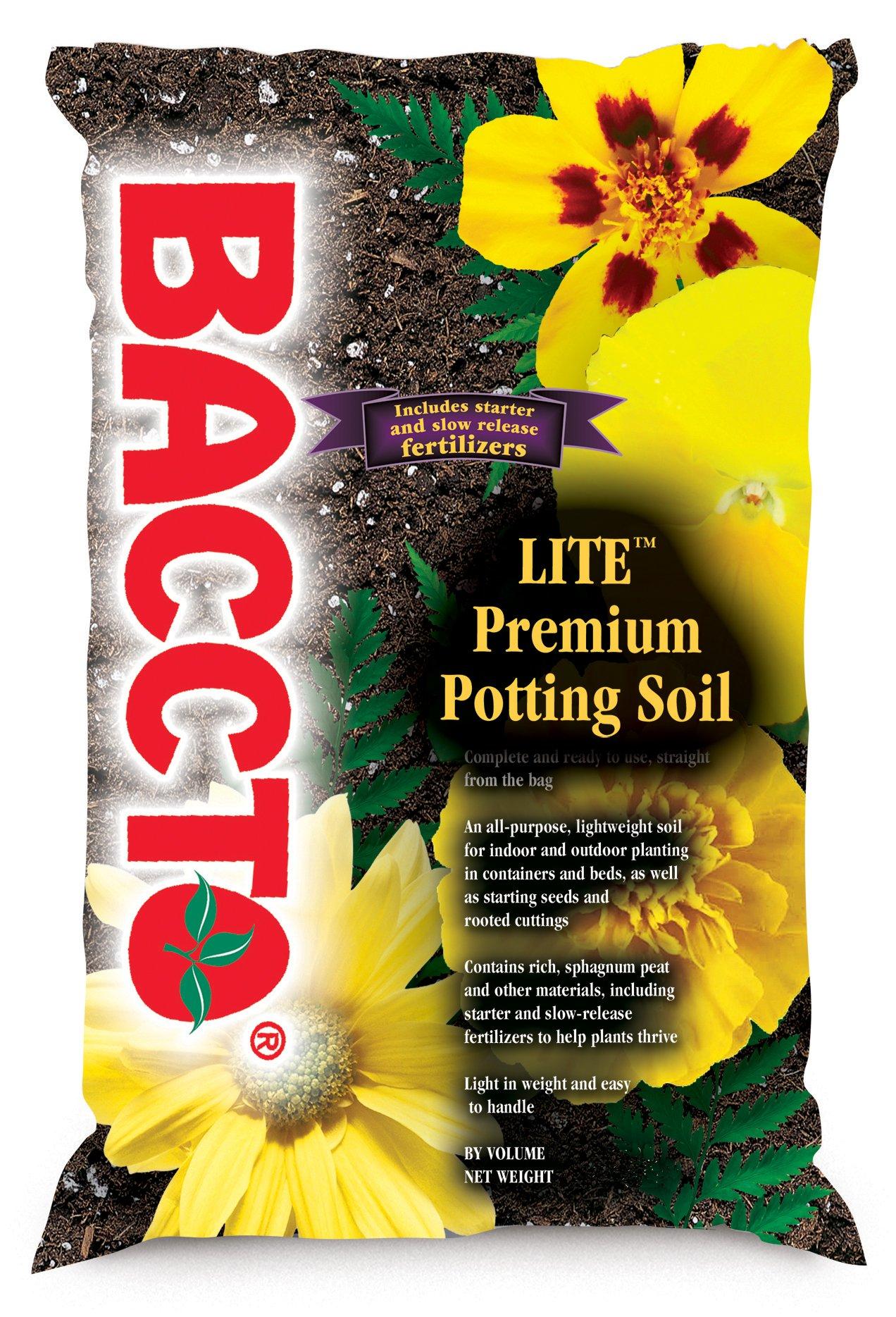 Michigan Peat 1460 Baccto Lite Premium Potting Soil, 8 Quarts