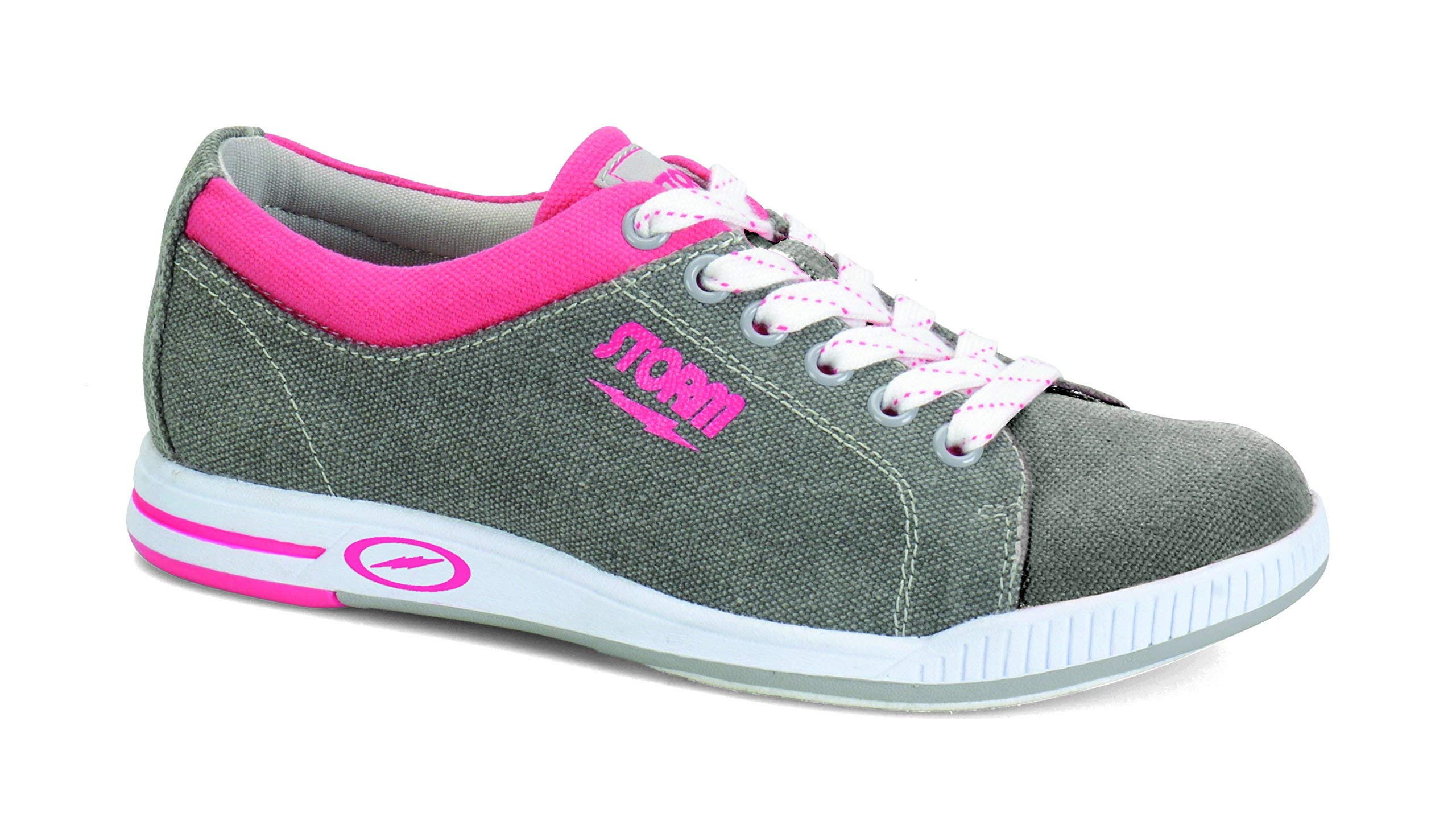 Storm Meadow Bowling Shoes, Grey/Pink, 10.0 (Renewed)